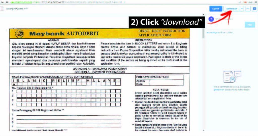 Autodebit – Islamic Relief Malaysia